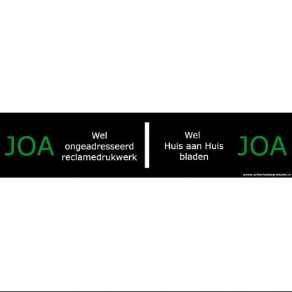 Achterhoekse brievenbussticker 'Joa-Joa'