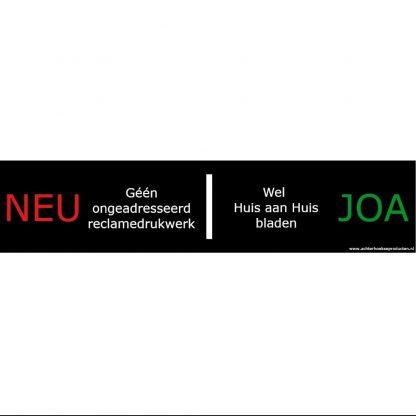 Achterhoekse brievenbussticker 'Neu-Joa'